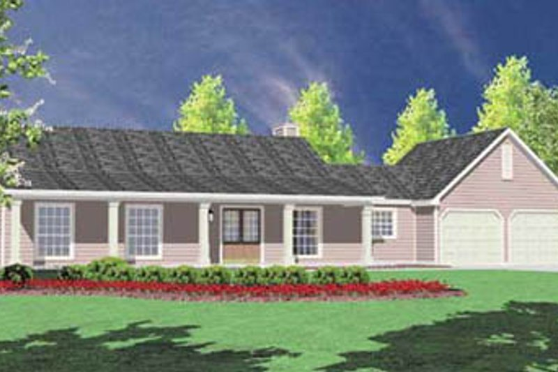 Home Plan - Ranch Exterior - Front Elevation Plan #36-108