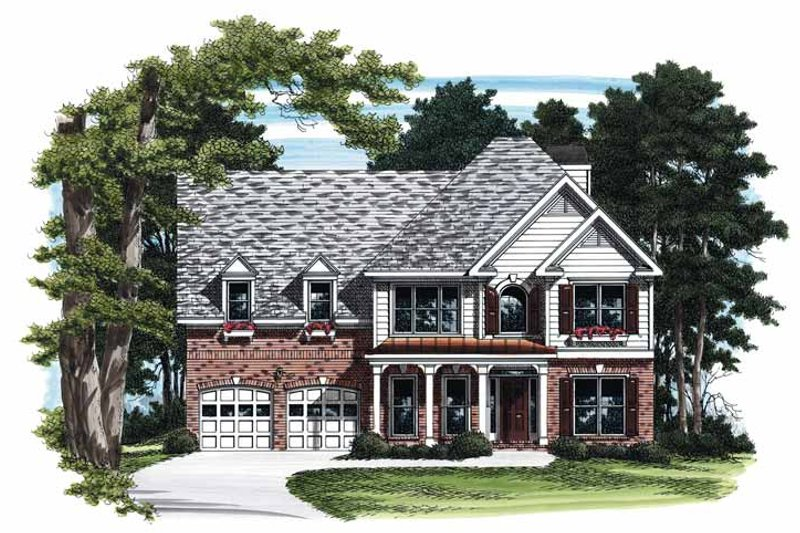 Colonial Exterior - Front Elevation Plan #927-662