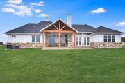 Craftsman Style House Plan - 5 Beds 3.5 Baths 3311 Sq/Ft Plan #430-179 Exterior - Rear Elevation