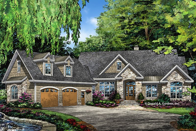 House Plan Design - European Exterior - Front Elevation Plan #929-1003