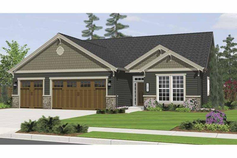 Craftsman Exterior - Front Elevation Plan #943-3 - Houseplans.com