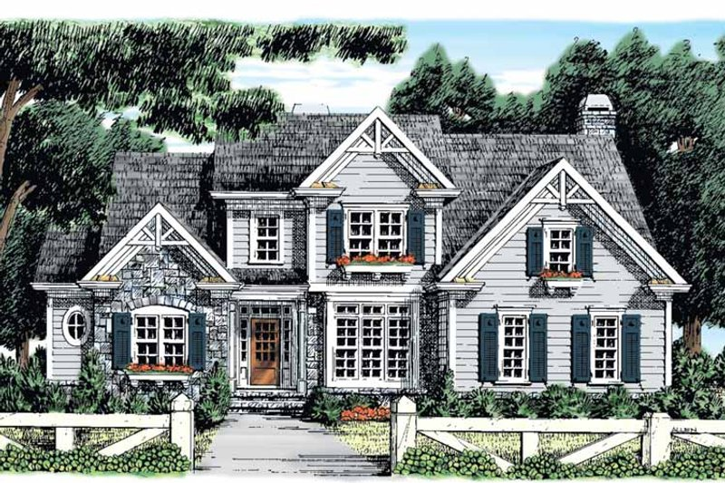 Country Exterior - Front Elevation Plan #927-878 - Houseplans.com