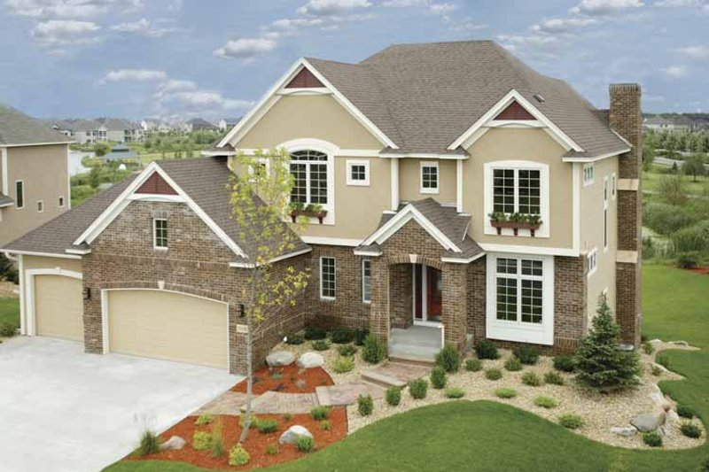 Traditional Exterior - Front Elevation Plan #320-1002 - Houseplans.com