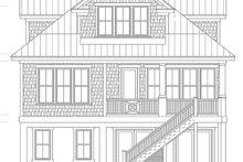 Colonial Exterior - Rear Elevation Plan #991-24