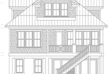 Colonial Exterior - Rear Elevation Plan #991-24