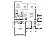 Country Floor Plan - Main Floor Plan Plan #938-32