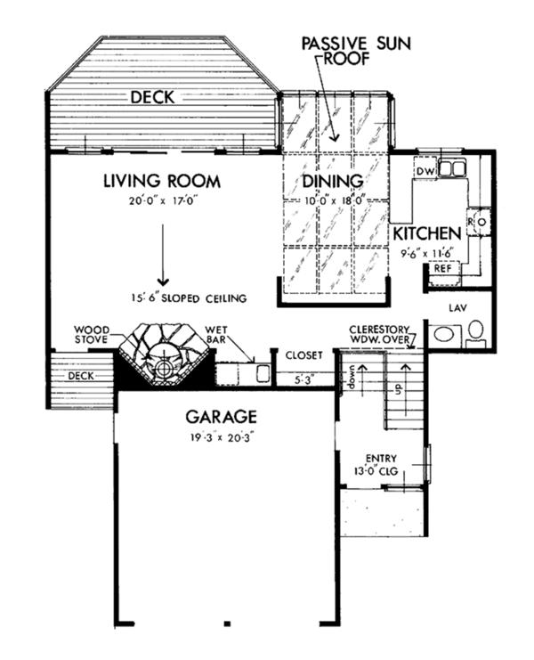 Prairie Floor Plan - Main Floor Plan Plan #320-1190
