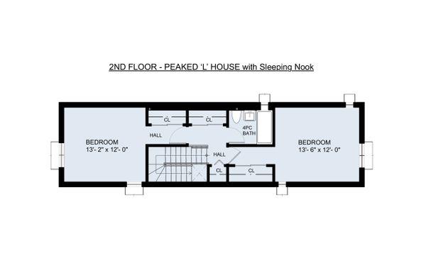 Traditional Floor Plan - Upper Floor Plan #905-6