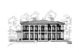 Colonial Exterior - Front Elevation Plan #411-324