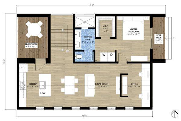 Farmhouse Floor Plan - Main Floor Plan Plan #933-10