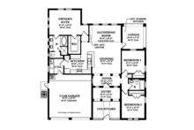 Mediterranean Floor Plan - Main Floor Plan Plan #1058-2