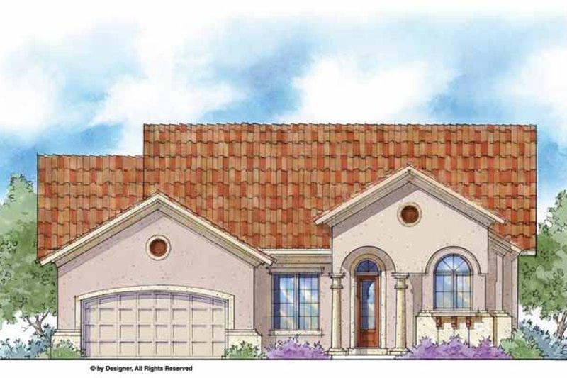House Plan Design - Mediterranean Exterior - Front Elevation Plan #938-36