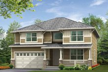Architectural House Design - Prairie Exterior - Front Elevation Plan #132-306