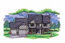 Architectural House Design - Colonial Exterior - Front Elevation Plan #51-1019