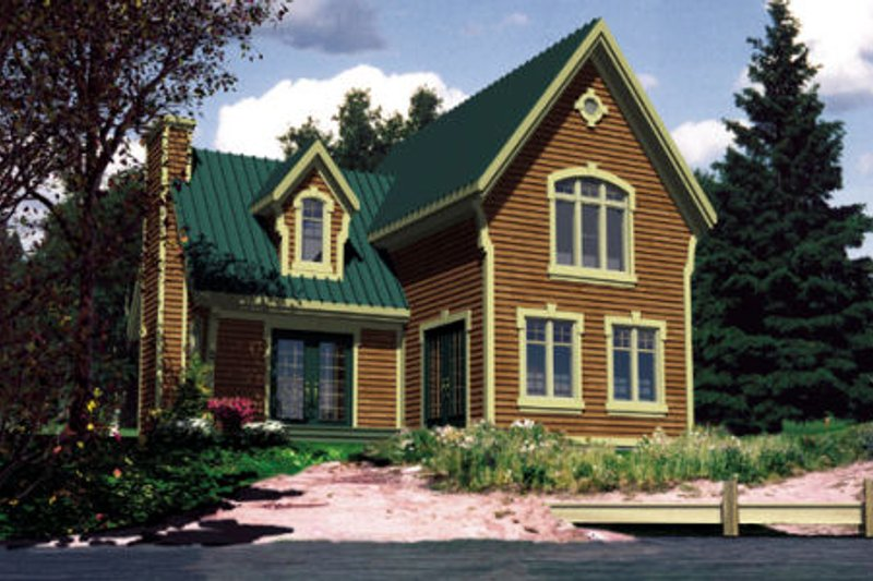 Craftsman Style House Plan - 2 Beds 1.5 Baths 1120 Sq/Ft Plan #138-308 Exterior - Front Elevation