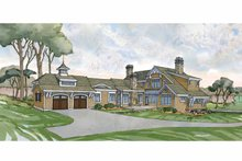 Craftsman Exterior - Rear Elevation Plan #928-235