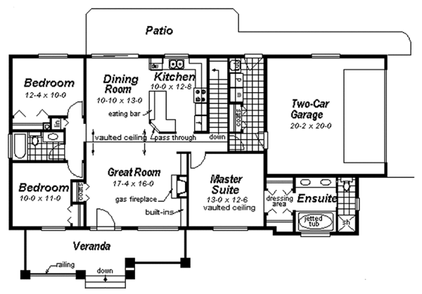 Ranch Floor Plan - Main Floor Plan Plan #18-9546