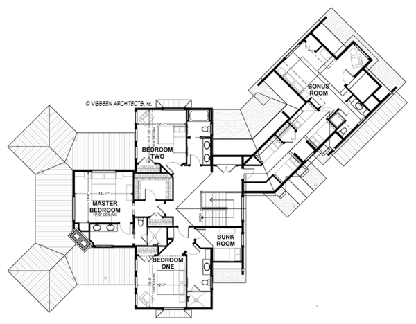 Country Floor Plan - Upper Floor Plan Plan #928-290