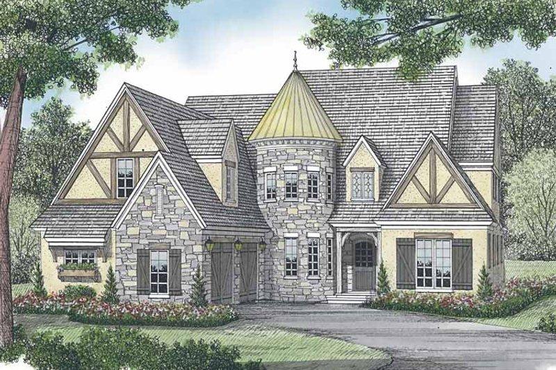 Architectural House Design - European Exterior - Front Elevation Plan #453-585