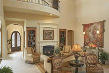 Mediterranean Interior - Family Room Plan #952-196