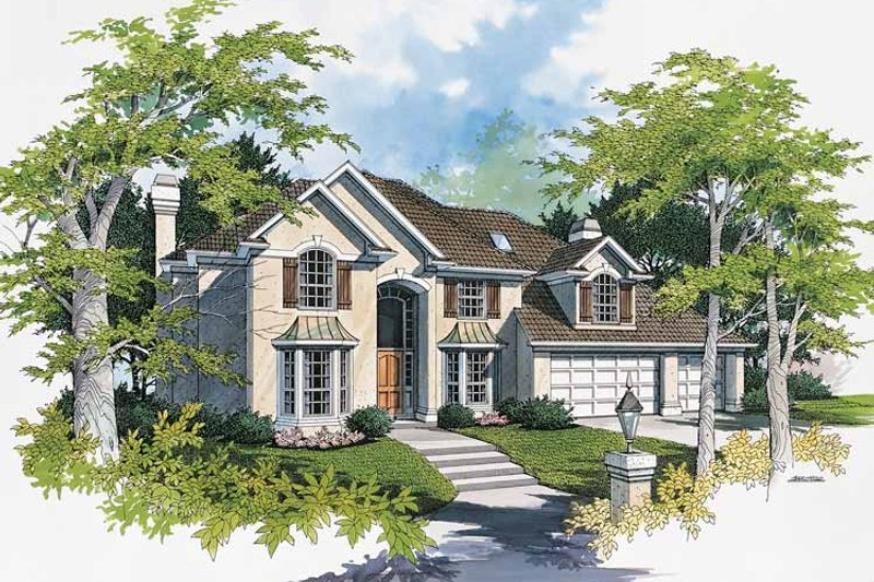 Country Exterior - Front Elevation Plan #48-725