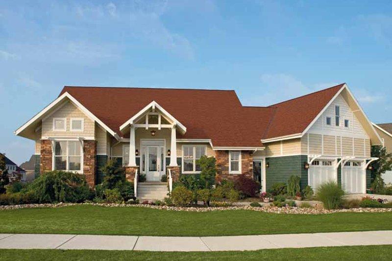 Craftsman Exterior - Front Elevation Plan #930-356