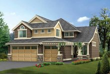 Craftsman Exterior - Front Elevation Plan #132-313