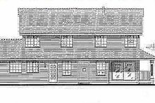 House Blueprint - Country Exterior - Rear Elevation Plan #18-262