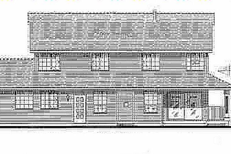 Country Exterior - Rear Elevation Plan #18-262 - Houseplans.com
