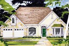Country Exterior - Front Elevation Plan #472-31