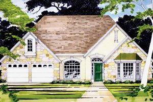 Home Plan - Country Exterior - Front Elevation Plan #472-31