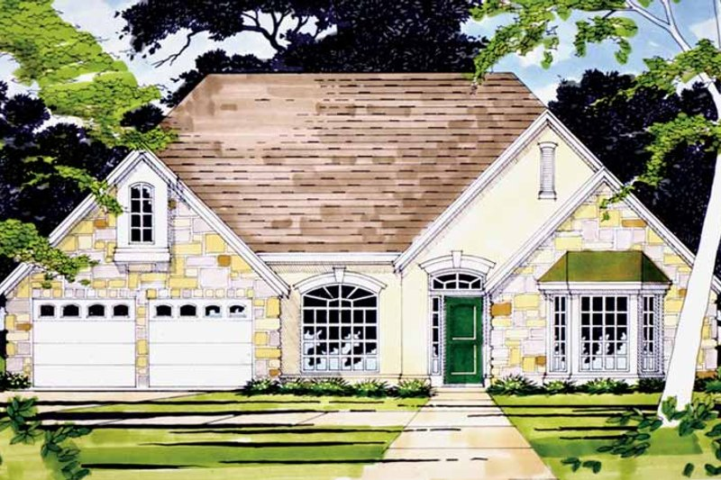 Country Exterior - Front Elevation Plan #472-31 - Houseplans.com