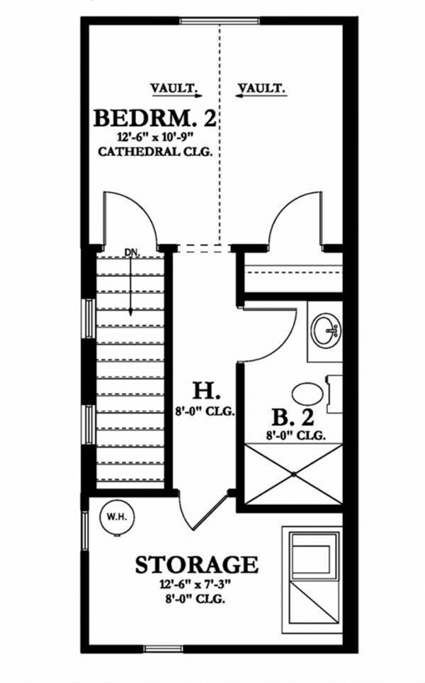 European Floor Plan - Upper Floor Plan Plan #1058-108