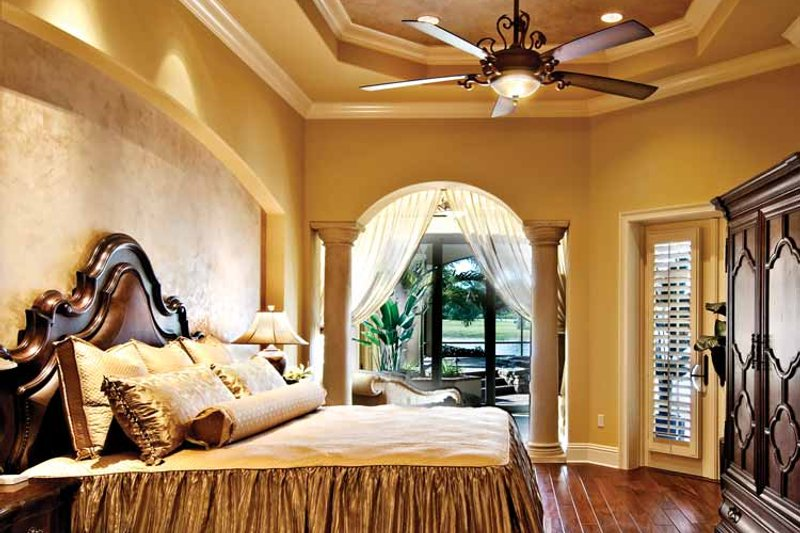 Mediterranean Interior - Master Bedroom Plan #930-440 - Houseplans.com
