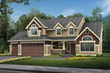 Craftsman Exterior - Front Elevation Plan #132-266