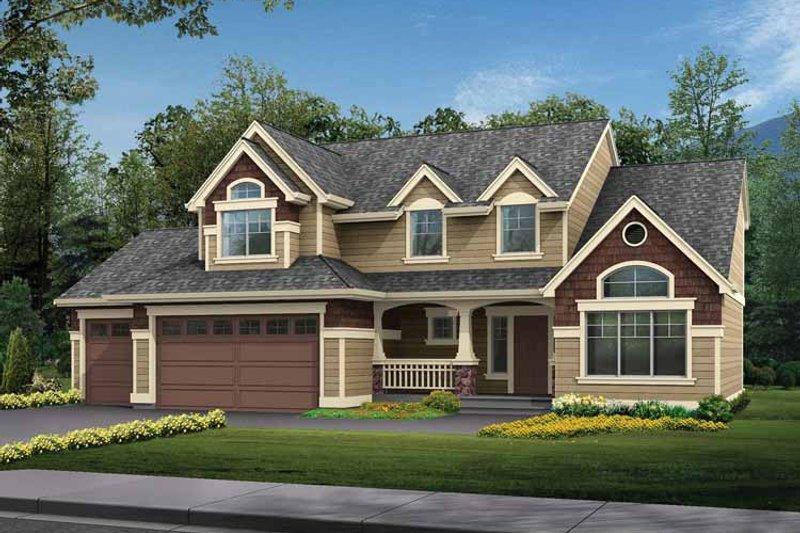 Home Plan - Craftsman Exterior - Front Elevation Plan #132-266