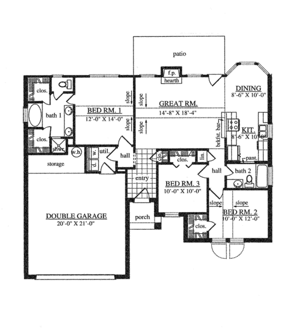 Traditional Floor Plan - Main Floor Plan Plan #42-722