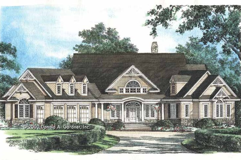 Country Exterior - Front Elevation Plan #929-649