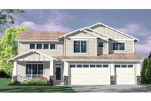 Craftsman Exterior - Front Elevation Plan #509-317
