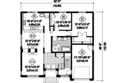 Contemporary Style House Plan - 2 Beds 1 Baths 1332 Sq/Ft Plan #25-4467 Floor Plan - Main Floor Plan