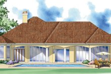 Architectural House Design - Mediterranean Exterior - Rear Elevation Plan #930-293