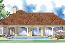 Home Plan - Mediterranean Exterior - Rear Elevation Plan #930-293