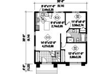 Contemporary Floor Plan - Main Floor Plan Plan #25-4287