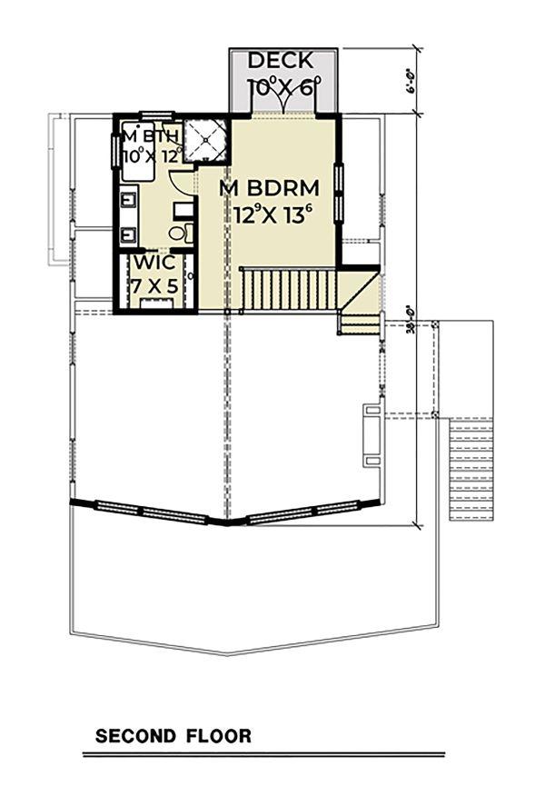 Dream House Plan - Cottage Floor Plan - Upper Floor Plan #1070-57