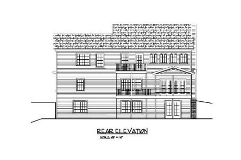 Country Exterior - Rear Elevation Plan #56-565 - Houseplans.com