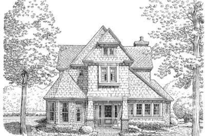 Cottage Exterior - Front Elevation Plan #410-186