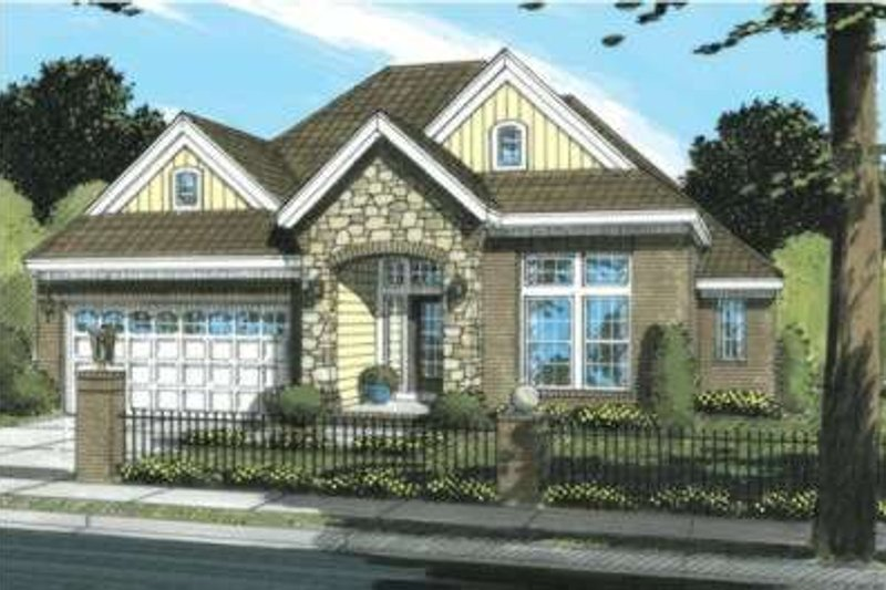 Traditional Exterior - Front Elevation Plan #20-1870 - Houseplans.com