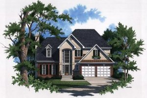 Architectural House Design - European Exterior - Front Elevation Plan #41-146
