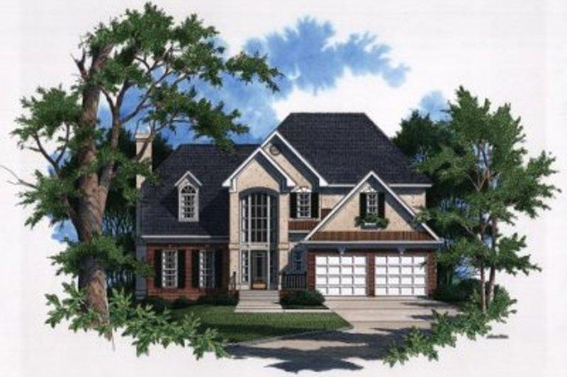 Architectural House Design - European Exterior - Front Elevation Plan #41-146