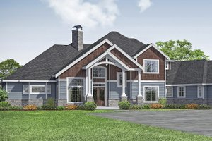 Craftsman Exterior - Front Elevation Plan #124-1163